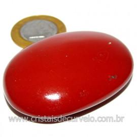 Sabonete Massageador Jaspe Vermelho Pedra Natural Cod 114289