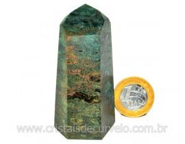 Ponta Fuxita Verde Pedra Natural Mineral Garimpo Cod PF7028