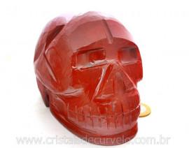 Crânio Pedra Dolomita Vermelha Esculpido Manualmente skull Stone Cod CV1.663