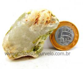 Turmalina Verde Canudo Extra Incrustado no Cristal Branco para Colecionar Cod 42.0