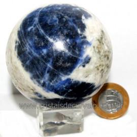 Esfera Sodalita Azul Bola Pedra Natural Garimpo Cod 113491