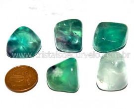 04 Fluorita Verde Rolado Pedra Natural de garimpo Reff FR5962