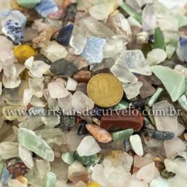 1kg Cascalho Polido Pedras Sortido Pequeno pra Orgonite