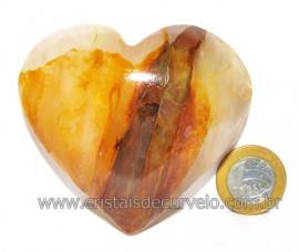 Coração Hematoide Amarelo Natural Presente Ideal Cod 115968