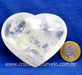 Coração Cristal Comum Qualidade Natural Garimpo Cod 218001