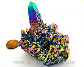 Drusa Crystal Aura Arco-Iris ou Titaniun Bruto Cod AI1710
