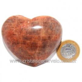 Coração Amazonita Pêssego Pedra Natural de Garimpo Cod 119058