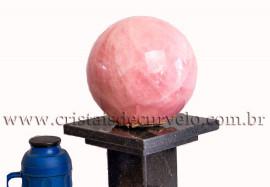 Bola gigante Pedra Quartzo Rosa Extra 12kg cod 109157