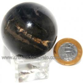 Bola Onix Preto Pedra Natural Lapidado Artesanal Cod 118743