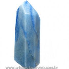 Ponta Quartzo Azul Pedra Natural Gerador Sextavado Cod 113488