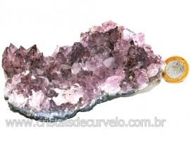 Drusa Ametista Média Pedra Natural Lilás Boa Cor Cod 113992
