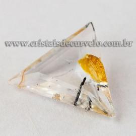 Hematoide Amarelo Trillion Facetado Gema Para Joias 112741