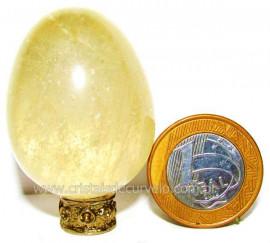 Ovo Pedra Citrino Natural Quartzo Não Bombardeado Cod 104188