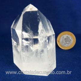Ponta Cristal Quartzo Super Extra Transparência Cod 119491