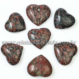 05 Coração Pedra Unakita Brasileira Natural 4.7 a 6.5cm ATACADO