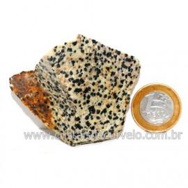 Jaspe Dalmata Pedra Natural Mineral de Esoterismo Cod123300