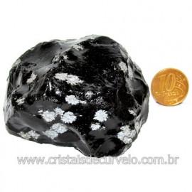 Obsidiana Flocos de Neve Pedra Vulcanica Natural Cod 114663