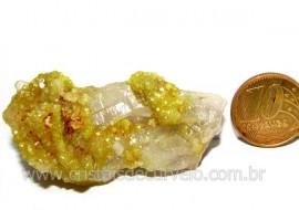 Mica Drusa Amarela Feldspato Pedra Bruta Natural Cod MA7011
