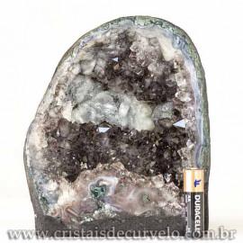 Capela de Ametista Pedra Natural Medio Ótimo Lilás Cod 123096
