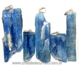 5 Pingente Lamina Cianita Azul PINO Prata 950 ATACADO