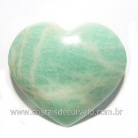 Coraçao Amazonita Verde Natural Ideal P/ Presente Cod 118239