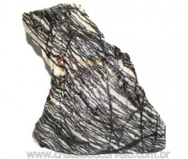 Jaspe Net Pedra de Garimpo Com Listras Naturais Cod 111253