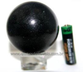 Esfera Pedra Quartzo Preto ou Quartzito Natural Cod BP3517