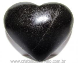 Coraçao Quartzo Preto Quartzito Negro Natural Cod 115345