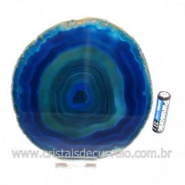 Chapa de Agata Azul Porta Frios Bandeja Pedra Natural 128760