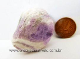 Chevron Pedra Rolado Ametista Lilas Mesclado Branco Unid Cod 34.9