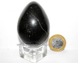 Ovo Pedra Quartzo Preto Quartzito Natural Garimpo Cod OP2311