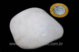 Massageador de Seixo Pedra Quartzo Leitoso Natural Cod ML4344