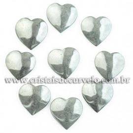 100 Coração Pedra Hematita 24x23mm pra Pingente Lapidado Calibrado