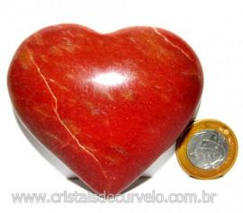 Coração Quartzo Vermelho Pedra Natural de Garimpo Cod 113965