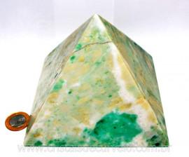 Piramide Jadeita Baseada Queops Pedra Grande Lapidado Manual Cod PJ2.362