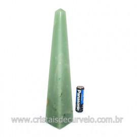 Obelisco Quartzo Verde Aventurina Pedra Natural Cod 122701