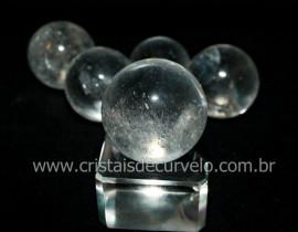 01 Mini Bola de Cristal Esfera Bem Limpa Pedra Extra e Pequena REFF 15.6