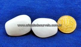 02 Quartzo Leitoso Rolado Unidade Pedra Natural Cristal Rocha de Garimpo Cod 32.7