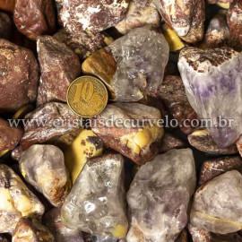 1kg Cascalho Polido Quartzo Jiboia natural Calcedonia Mosaico Grande