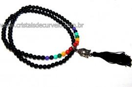Japamala dos Chacras Bolinhas Obsidiana Negra REFF JA7334