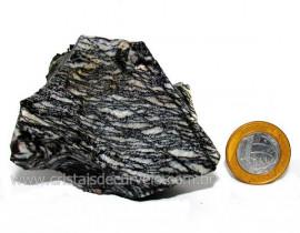 Jaspe Net Pedra de Garimpo Com Listras Naturais Cod JN5106