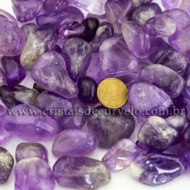 1 kg Ametista Rolado Pedra EXTRA Tamanho Medio REF 231801