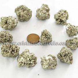 20 Pirita Peruana 25mm Pedra Bruta Natural P/ Orgonite ATACADO