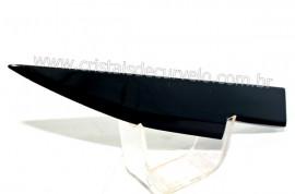 Adaga ou Athame Faca Pedra Obsidiana Negra Esoterico Cod AF2558