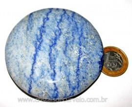 Massageador Disco Quartzo Azul Pedra Natural Cod 103315