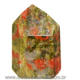 Ponta Unakita Gerador Pedra Natural de garimpo Cod 109871