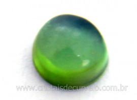 Gema Turmalina Verde Lisa Pedra Natural 0.2ct 3mm Reff TV1786