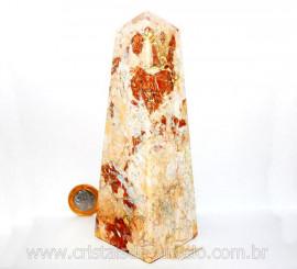 Obelisco Geodo de Calcedonia Geodo Pedra Raro e Natural Lapidado OC6634