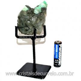 Esmeralda Canudo Pedra Natural com Suporte De Ferro Cod 119340