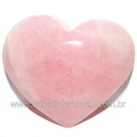 Coração Pedra Quartzo Rosa Natural Pedra do Amor Cod 116211